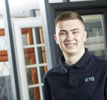 You're Hired: EYG apprentice Luke handed key role in modular windows and doors team
