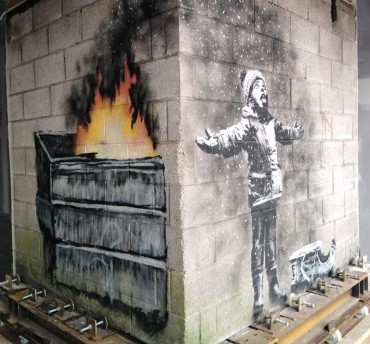 Making way for Banksy – How EYG played its part as 'Seasons Greetings' artwork was moved to Port Talbot art gallery